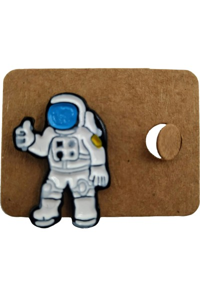 Ema Astronot Rozet Yaka Çanta Elbise Cüzdan Broşu Pin Hediyelik Eşya