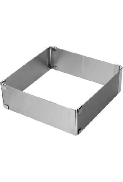 Patisse Paslanmaz Çelik Ayarlanabilir Kare Kek Kalıbı 40 x 40 x 7 cm