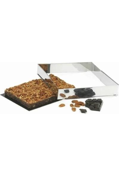 Patisse Paslanmaz Çelik Ayarlanabilir Dikdörtgen Kek Kalıbı 60 x 40 x 10 cm