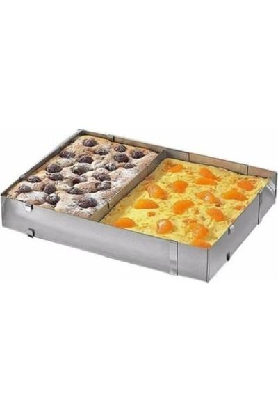 Patisse Paslanmaz Çelik Ayarlanabilir Dikdörtgen Bölümlü Kek Kalıbı 52,5 x 34 x 5 cm