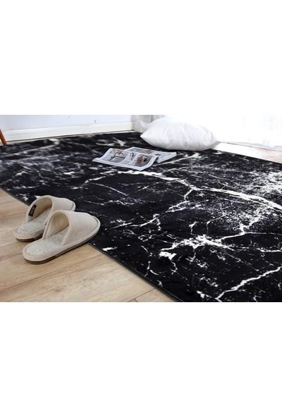 Aksu Yolluk Kaymaz Taban Halı Yumuşak Yüzey-Amor Siyah 80 x 50 cm
