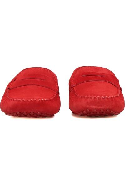 Divarese Erkek Kırmızı Süet Loafer