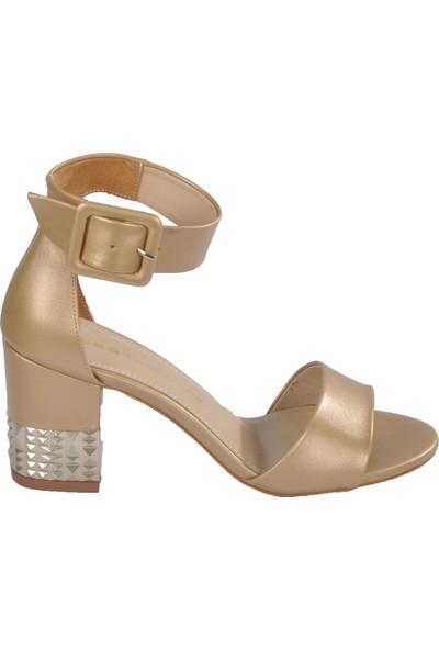 Esstii 278 Altın-Sedef Kadın Topuklu Ayakkabı