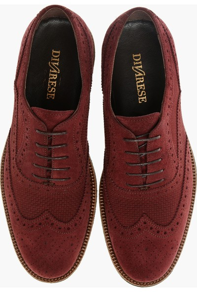 Divarese Erkek Süet Bordo Ayakkabı