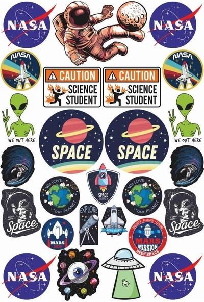 StickerMarket Uzay Laptop Sticker Seti