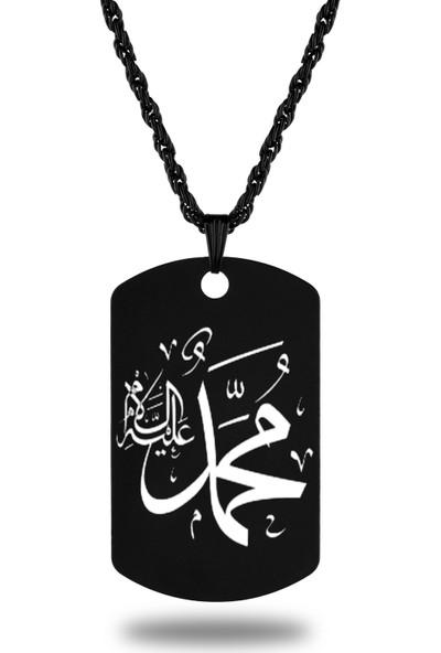 Apptakı Muhammed Aleyhisselam Künye Kolye - KOL0251