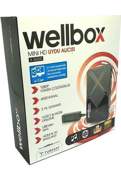 Wellbox X5000 Mini Hd Uydu Alıcısı Full Hd 1080P Tkgs