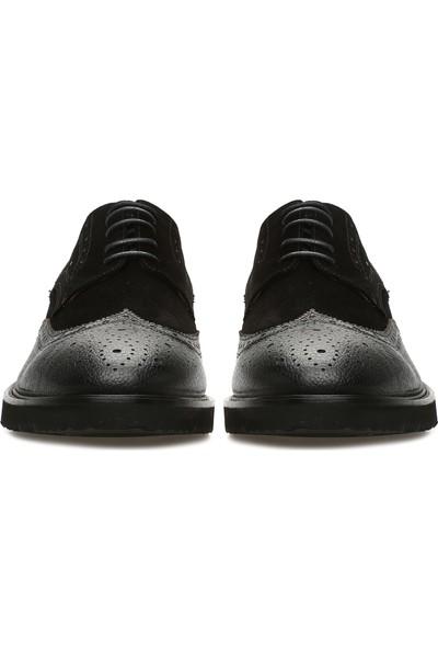 George Hogg Erkek Zımbalı Siyah Süet Ayakkabı