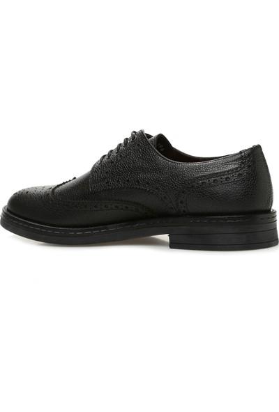 George Hogg Erkek Zımbalı Siyah Ayakkabı