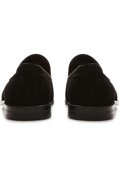 George Hogg Erkek Siyah Süet Loafer