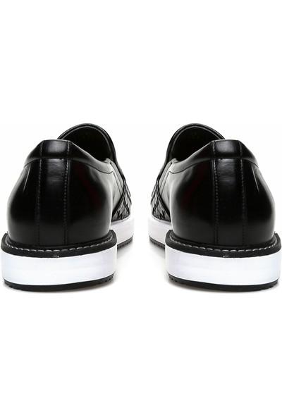 George Hogg Erkek Örgü Siyah Loafer