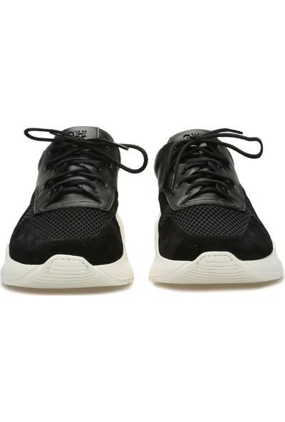 George Hogg Erkek Siyah Süet Sneaker
