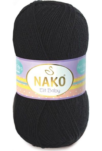 Nako Elit Baby 217 Siyah Örgü İpi