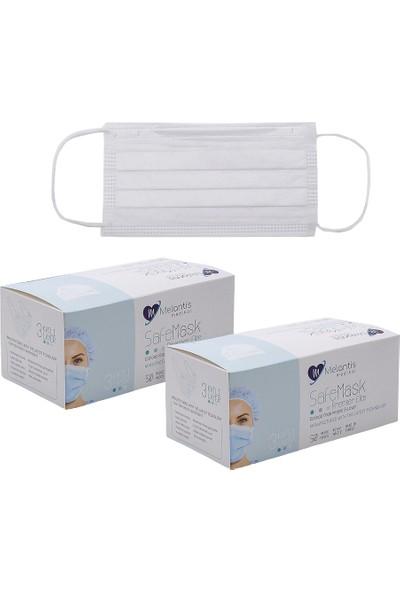 Melantis Medikal Tek Kullanımlık Telli 3 Katlı Cerrahi Maske 50 Adet 2 Kutu