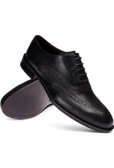 Deery Deri Siyah Klasik Oxford Erkek Ayakkabı