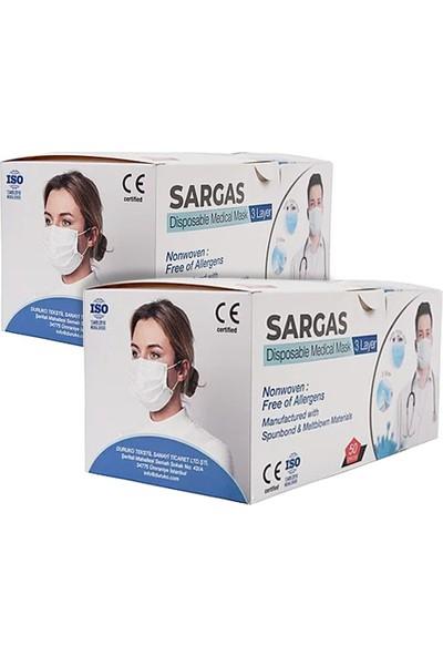 Duruko Tek Kullanımlık Telli 3 Katlı Telli Cerrahi Maske 50'li 2 Kutu
