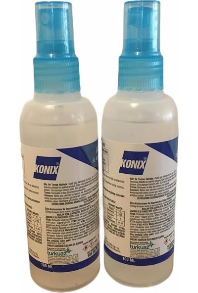 Konix 100 ml Sprey 2 Adet Antibakteriyel El Dezenfektanı