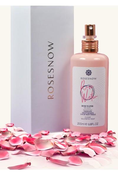 Rosesnow 200 ml Cam Şişede Gül Suyu + Gül Kolonyası 110ML Sprey