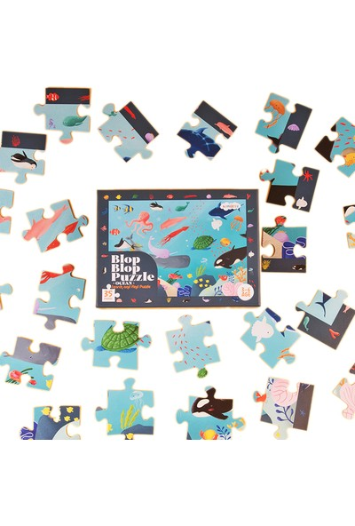 Kidmosfer Blop Blop Puzzle - Ocean (Search And Find Puzzle)