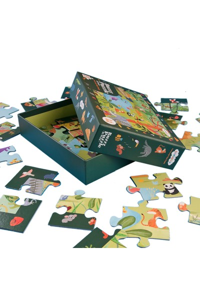 Kidmosfer Buzz Puzzle - Jungle (Search And Find Puzzle)