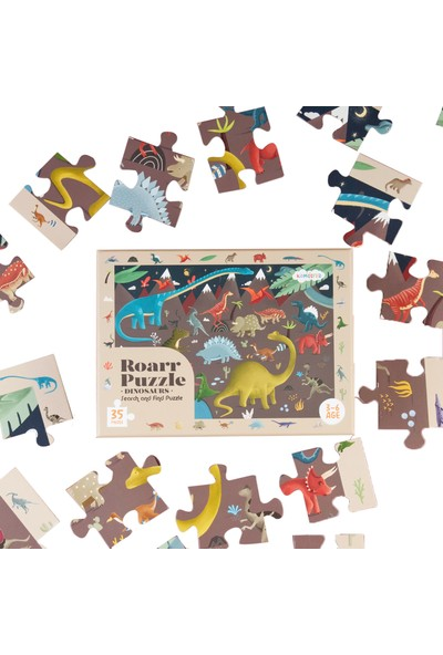 Kidmosfer Roarr Puzzle - Dinosaurs (Search And Find Puzzle)