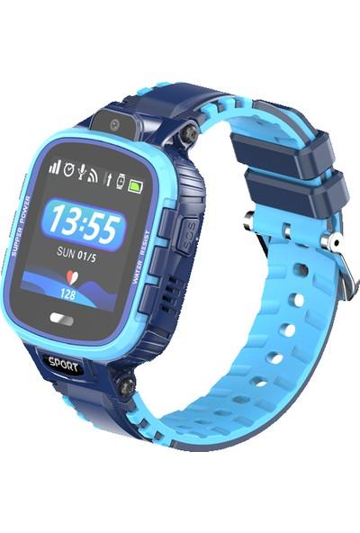 Smartbell Q580/2020 Sim Kartlı Akıllı Çocuk Saati Mavi