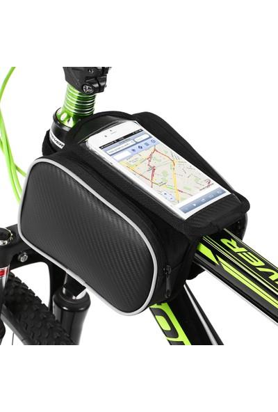 Lixada Bisiklet Ön Çerçeve Dokunmatik Telefon Çanta