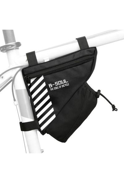 B-Soul Su Şişesi ile Bisiklet Üçgen Çanta Cep Bisiklet Çerçeve