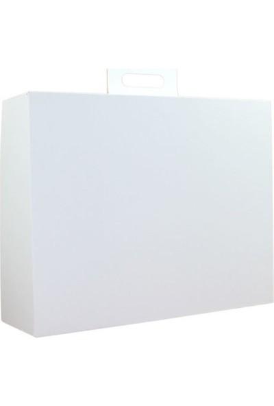Unipak Çanta Tipi Internet ve Kargo Kutusu 18 x 18 x 8 cm Beyaz 100'lü