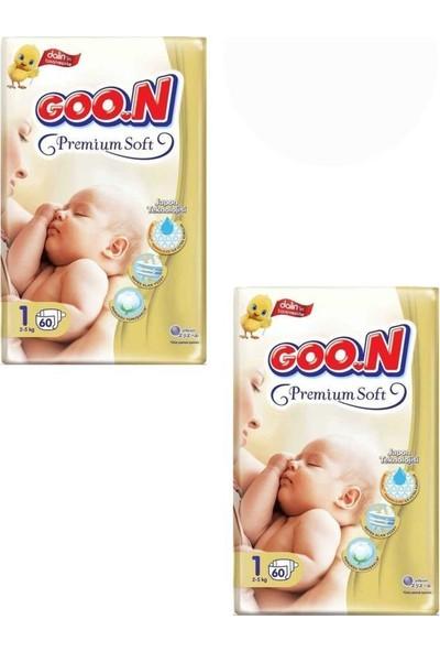 Goon Premium Bebek Bezi 1 Beden 60'lı 2 Paket
