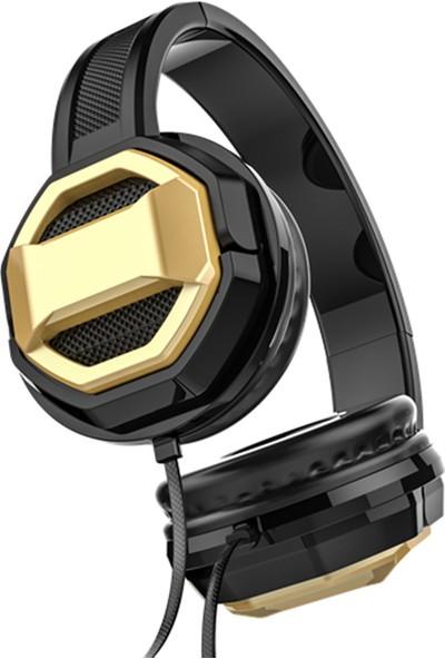 Lelisu LS-802 Extra Bass Ayarlanabilir Kulaklık Siyah - Gold