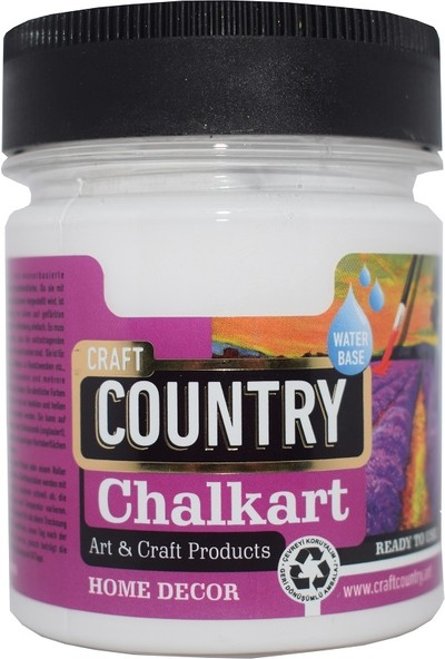 Craft Country Chalkart Hobi Boyası 2500 cc 6001 Beyaz