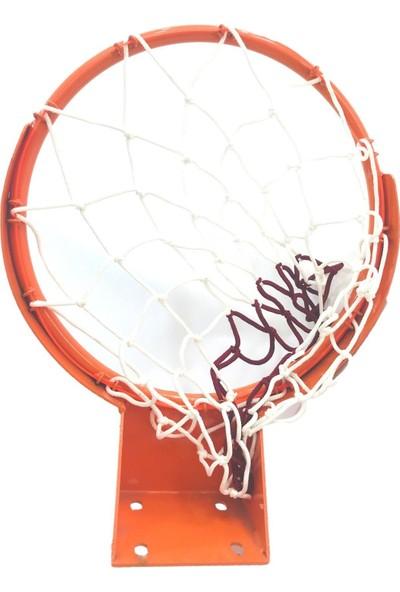 Adelinspor Standart Basketbol Çemberi 45 cm Sabit , Halkalı Ağ Bağlantısı