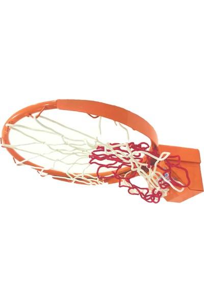 Adelinspor Standart Basketbol Çemberi 45 cm Esneyen Yaylı, Kancalı Ağ Bağlantısı