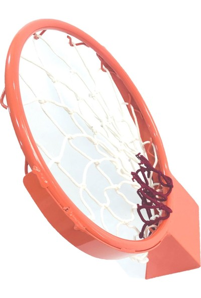 adelinspor Basketbol Çemberi 45 Cm Sabit, Kancalı 4 Mm Floş İp File