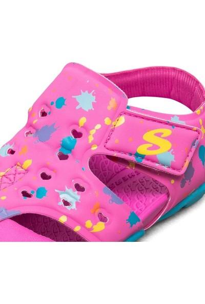 Skechers Side Wave - 86428N Hptq Küçük Kız Çocuk Pembe Sandalet