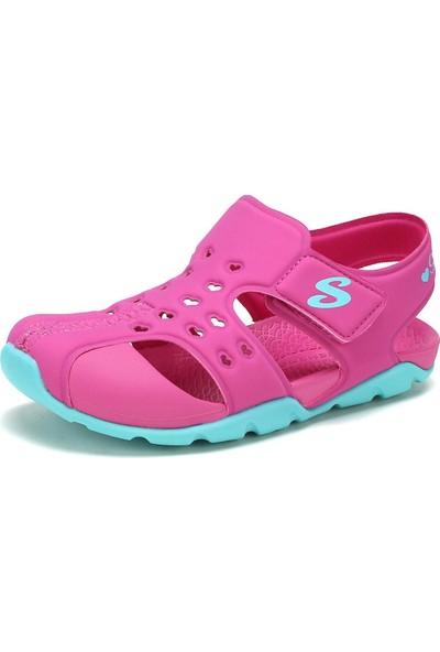 Skechers Side Wave-Heart Blıss 86624L Hpaq Büyük Kız Çocuk Pembe Sandalet