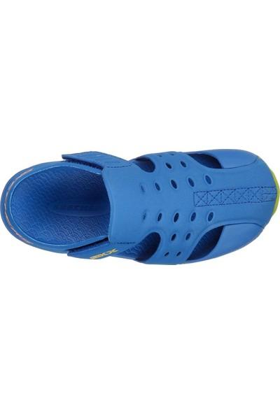 Skechers Side Wave - Büyük Erkek Çocuk Mavi Sandalet 92330L Bllm