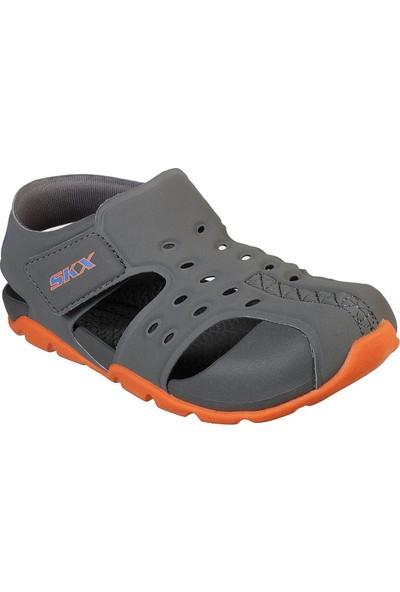 Skechers Side Wave 92330N Ccor Küçük Erkek Çocuk Gri Sandalet