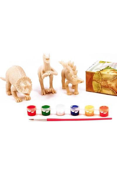 Amav 3D Boyama Dinozor - Üçlü Set