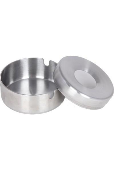 Globy Metal Havuzlu İç Kapaklı Paslanmaz Küçük Küllük 8 cm