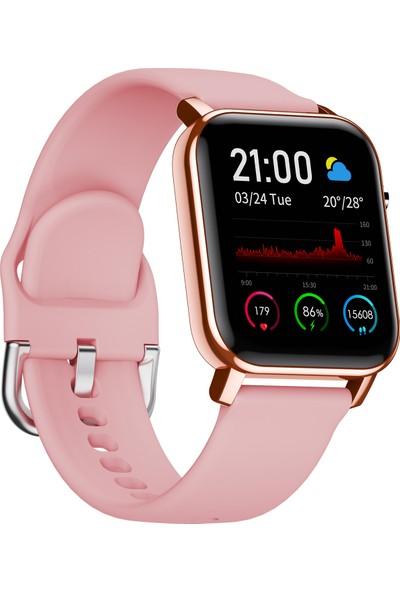 C4U F3 Akıllı Saat - IP68 - Rose Gold- (Android ve iPhone Uyumlu)