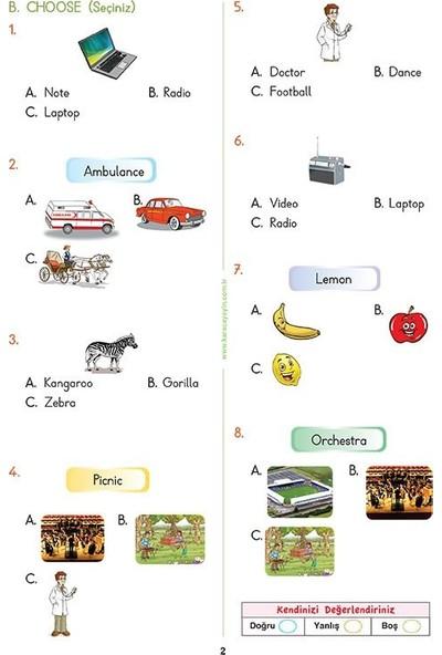 2. Sınıf İngilizce Etkinlikli Soru Bankası Çalışma Yaprakları