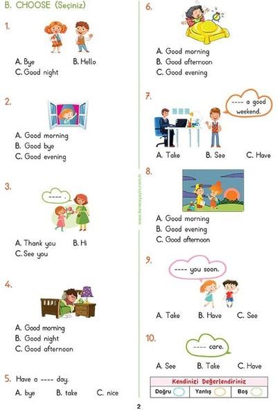3. Sınıf İngilizce Etkinlikli Soru Bankası Çalışma Yaprakları