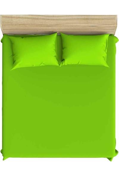 Maki Pamuk 90x190 Tek Kişilik Lastikli Çarşaf Takımı Neon Yeşili