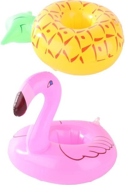 Beysüs Havuz Bardaklığı Şişme Ananas Flamingo 2'li