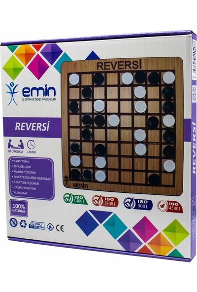 Emin İş Eğitimi Reversi Ahşap Zeka ve Strateji Kutu Oyunu