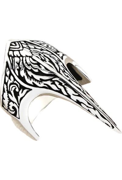 Prestige Gümüş Erkek Yüzük Kalem Işleme Motifli Zihgir