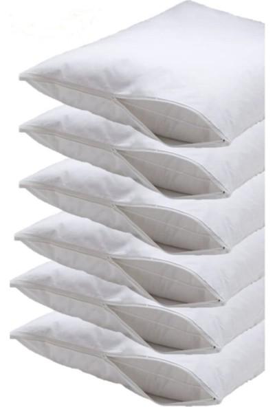 Madame Clean 50x70 Yastık Içi Koruyucu Kılıf Fermuarlı Beyaz 6 Adet