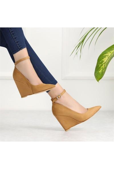Ayakkabı Delisiyim Sorneti Camel Dolgu Topuklu Ayakkabı
